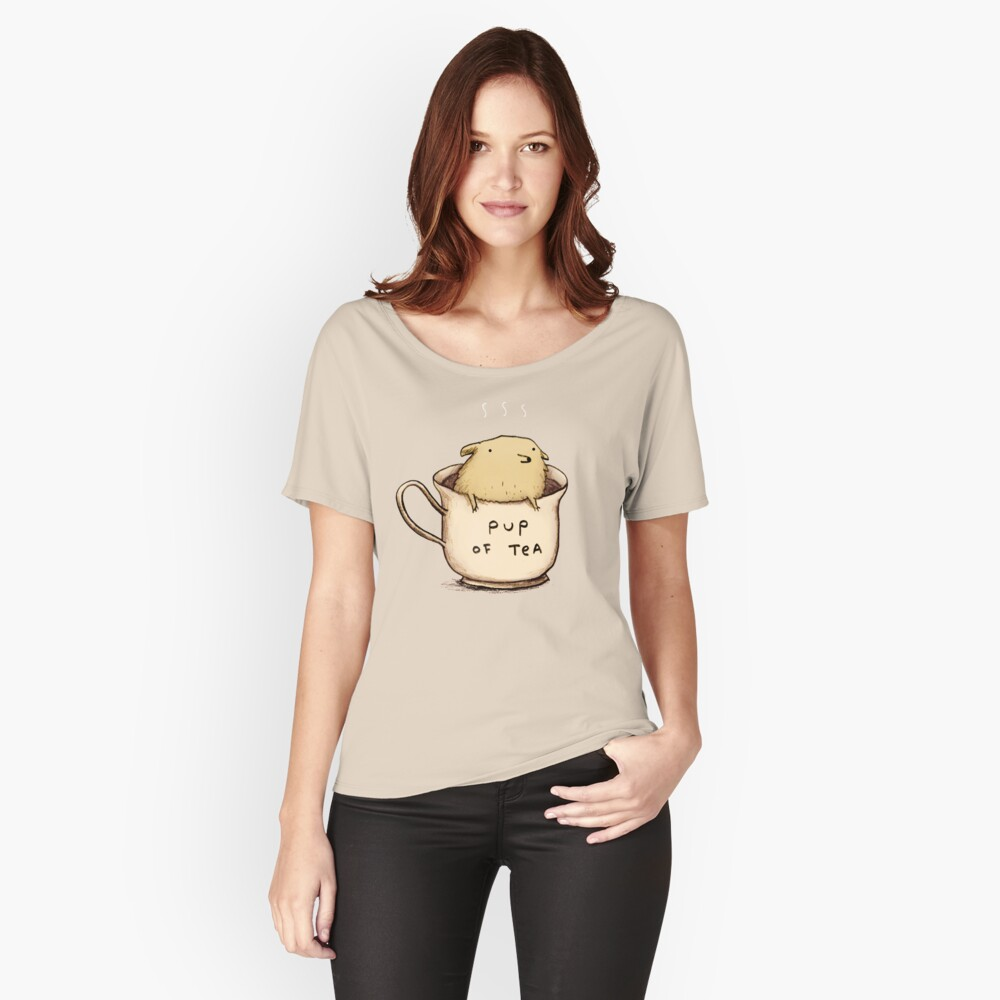 Pup of Tea Camiseta ancha