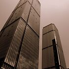 Shenzhen sepia skyscrapers, China by Chris Millar