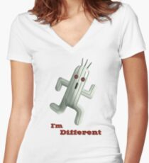 I'm Different Women's Fitted V-Neck T-Shirt
