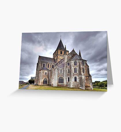Church of Saint-Vigor de Cerisy-la-Forêt Greeting Card