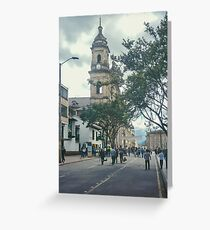 Cathedral at Historic Center of Bogota Colombia Greeting Card