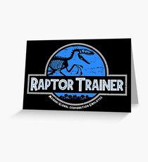 Jurassic World Raptor Trainer Greeting Card
