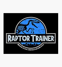 Jurassic World Raptor Trainer Photographic Print