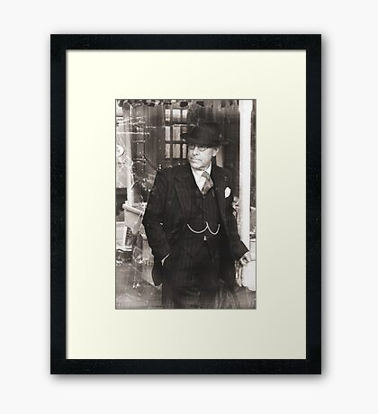 A Gentleman Waits Framed Print