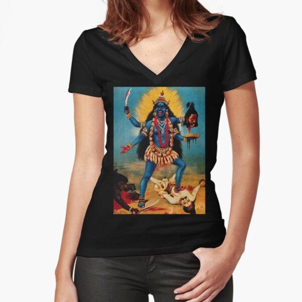 Goddess Kali Fitted V-Neck T-Shirt
