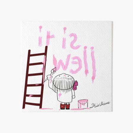 It is Well Iris Diane by Jami Amerine Art Board Print