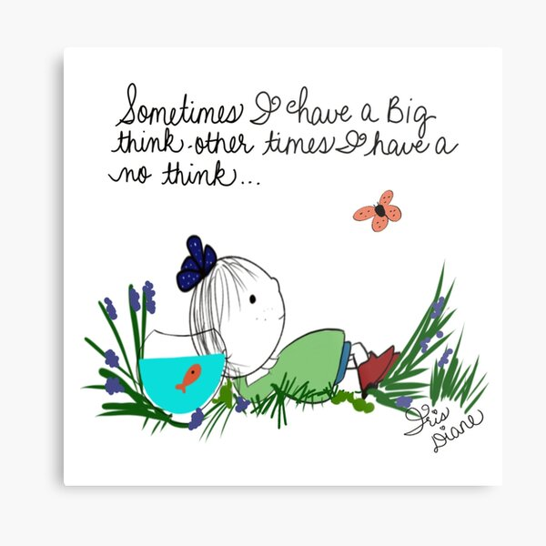 Big Thinker Little Sunshine  Iris Diane by Jami Amerine Metal Print