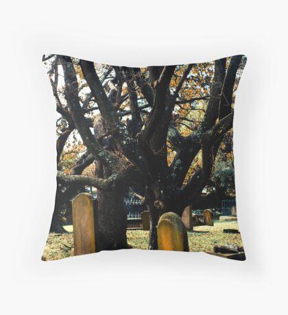 Cemetery Trees Throw Pillow