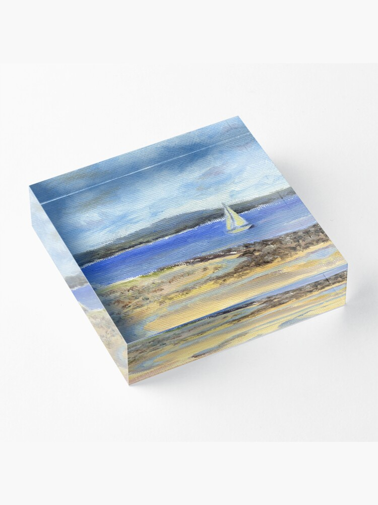 Alternate view of Sailing the Maine Coast. From oil painting by Pamela Parsons Acrylic Block