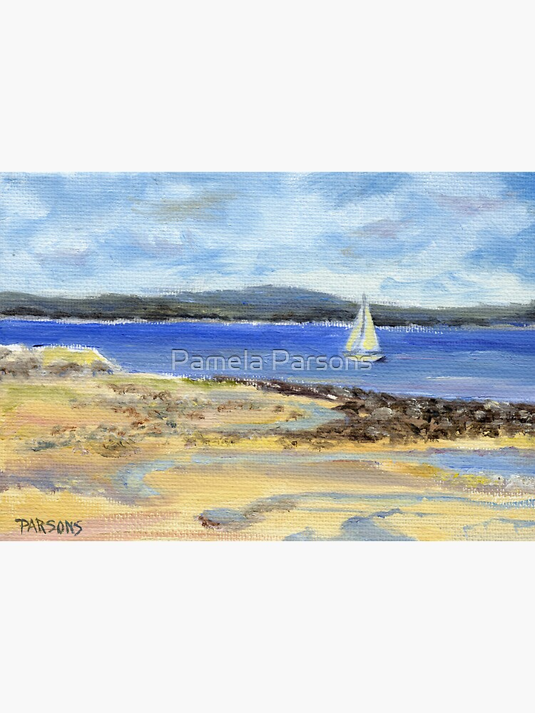Sailing the Maine Coast. From oil painting by Pamela Parsons by parsonsp
