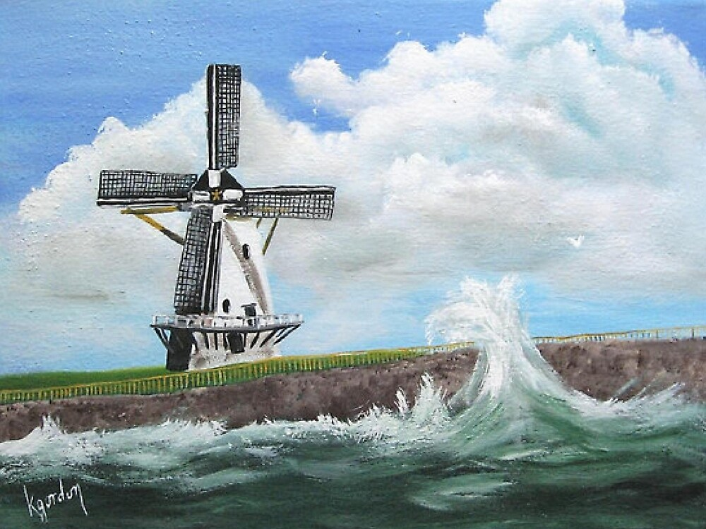 WindMill at stormy weather ..............kj's way by WhiteDove Studio kj gordon