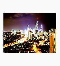 Gold Coast at Night Photographic Print