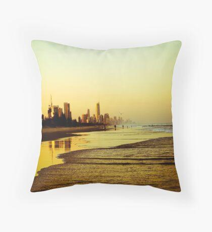 The Golden Coast Throw Pillow