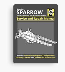 Sparrow Service and Repair Manual Canvas Print