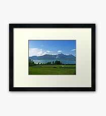 Moon Lake Framed Print