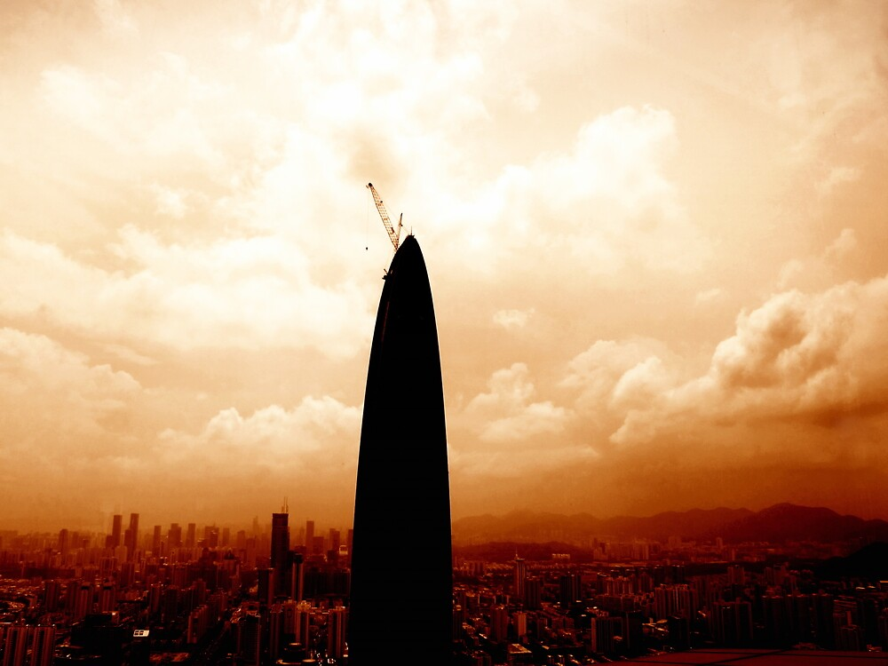 Shenzhen from above, China by Chris Millar