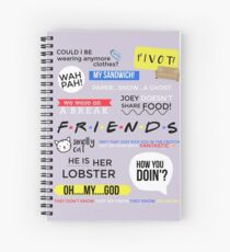Friends Quotes  Spiral Notebook