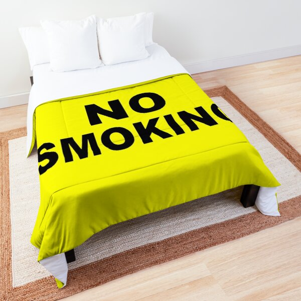 Caution No Smoking Comforter