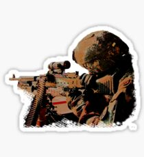 Machine Gunner Sticker