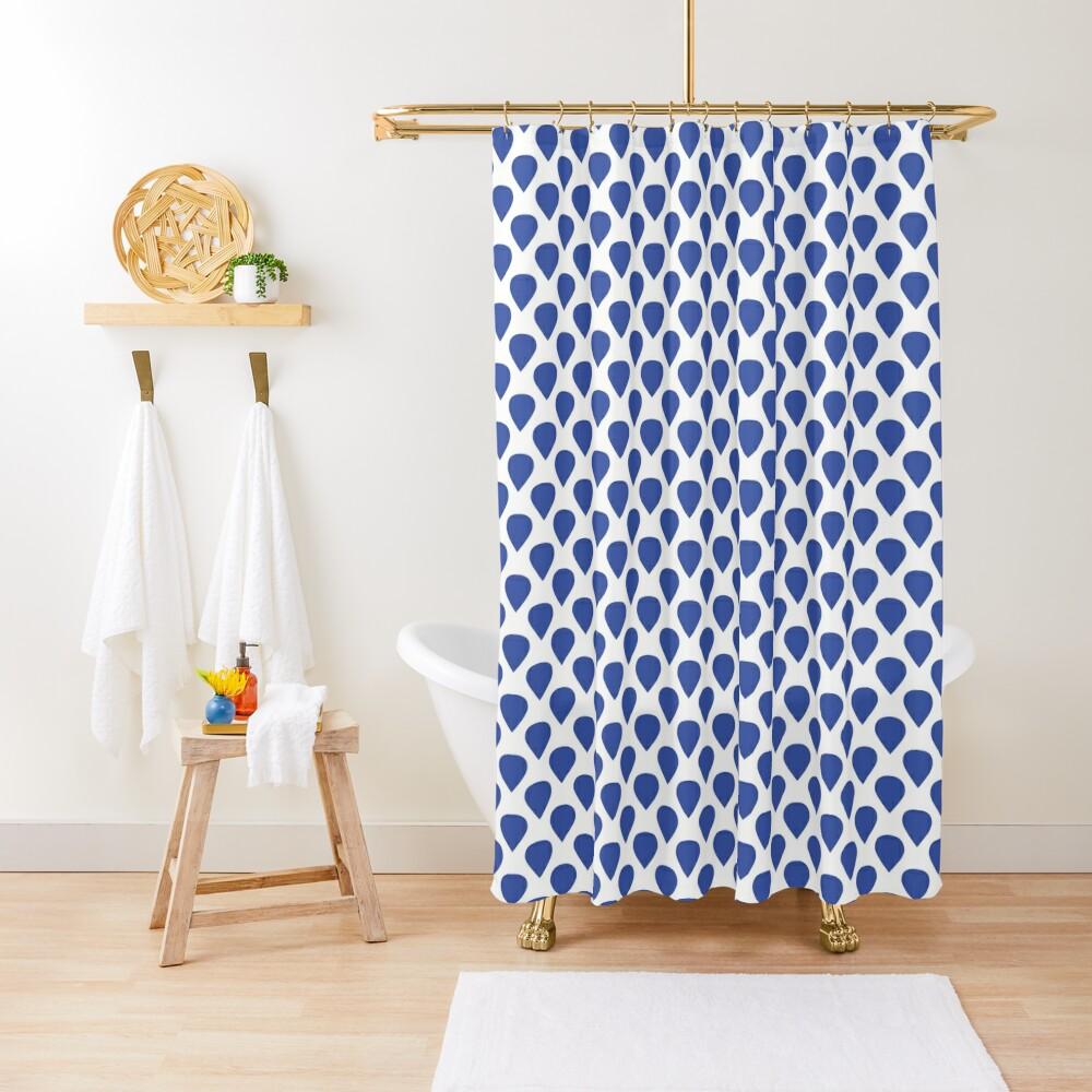 Blue drops Shower Curtain