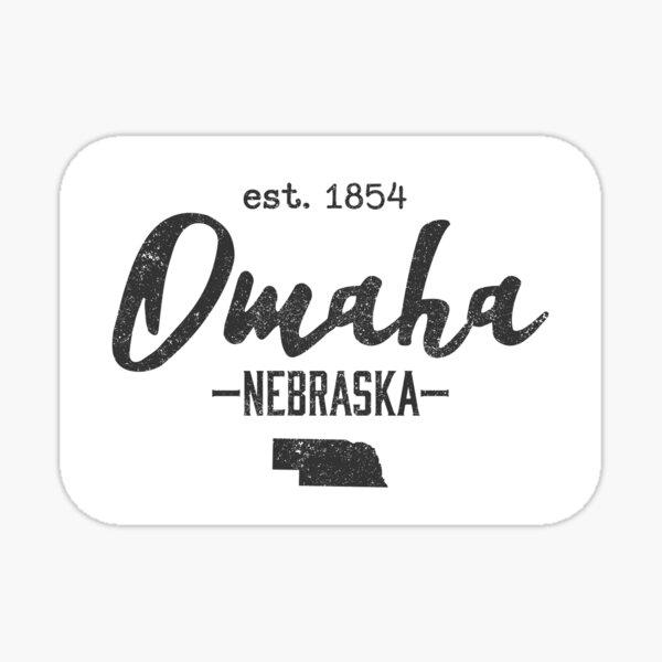 Omaha Nebraska City State Vintage Sticker