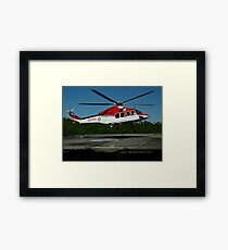 Emergency Helicopter, NSW Framed Print