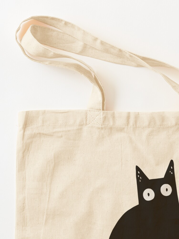 Alternate view of Cat What? Murderous Black Cat With Knife Gift Premium T-Shirt Tote Bag