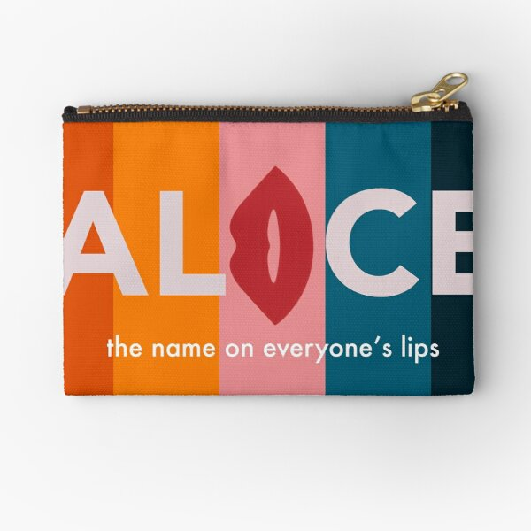 Alice Talkshow Host Cards Zipper Pouch