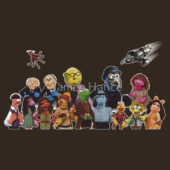 TShirtGifter presents: Firefrog (Firefly / The Muppets) - Group Shot #2 (No text)