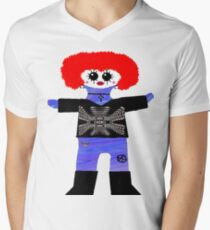 Little Punk Rock/ Goth Rag Doll Men's V-Neck T-Shirt