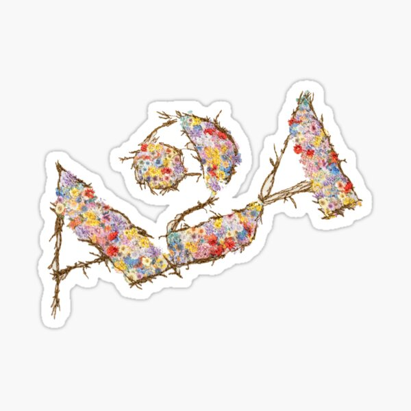 a24 floral logo Sticker