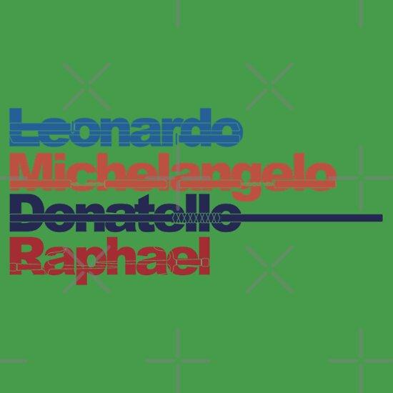 TShirtGifter presents: Leonardo, Michelangelo, Donatello, Raphael