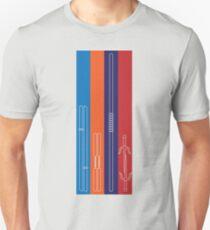 Leonardo, Michelangelo, Donatello, Raphael - Stripes Unisex T-Shirt