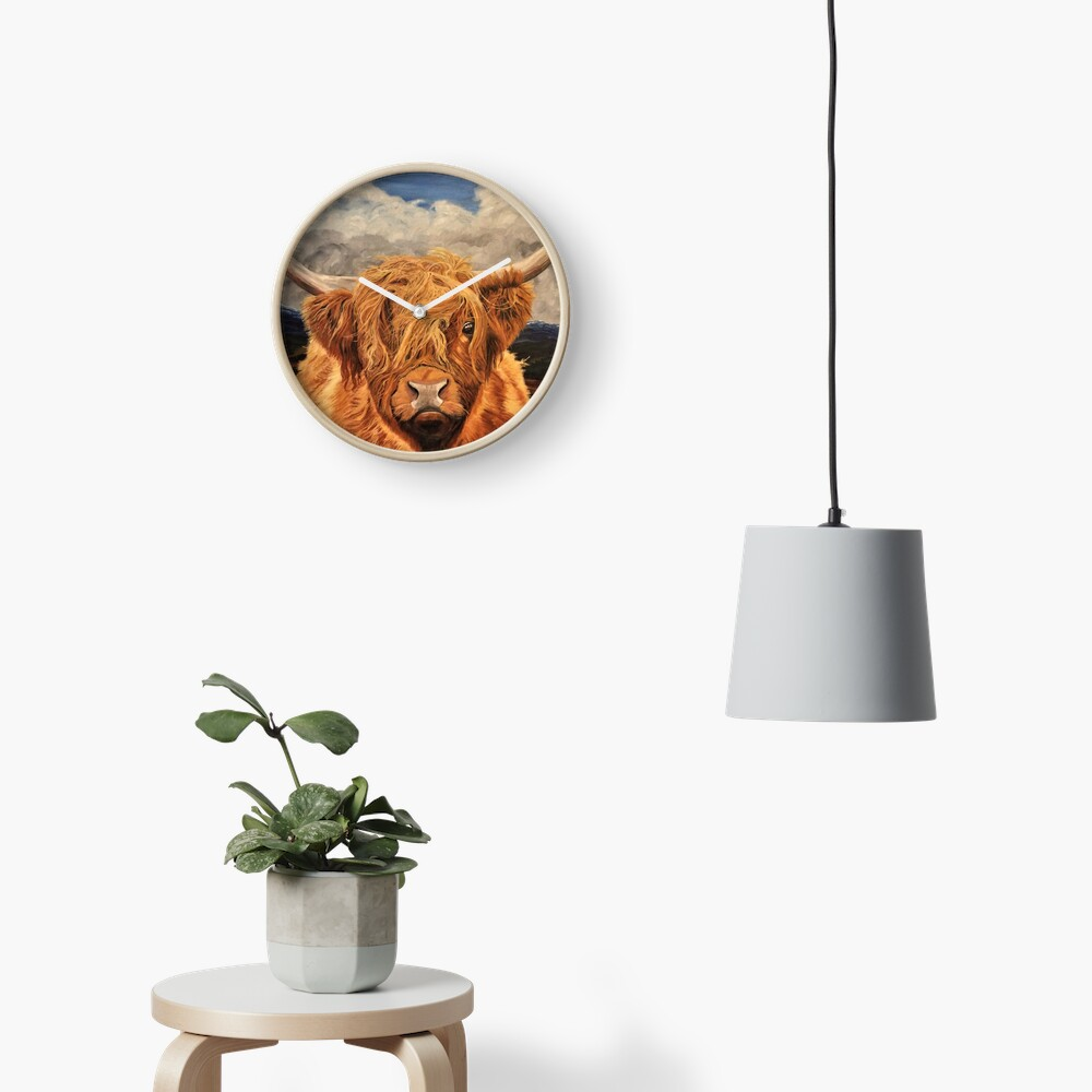 Highland Cow - Clock Clock