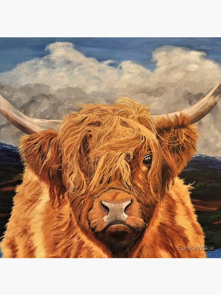 Highland Cow - Clock by EuniceWilkie