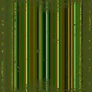 Dark green grunge metallic stripes by Laschon Robert Paul