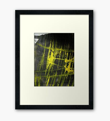 yellow glow.... flames Framed Print