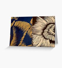 Transition in blue and black Greeting Card