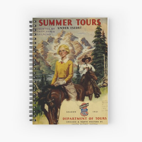 Vintage Summer Tours Catalog Spiral Notebook