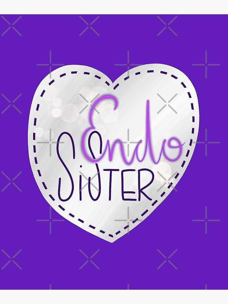 Endometriosis sister awareness handlettering by nobelbunt