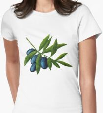 Olives Womens Fitted T-Shirt