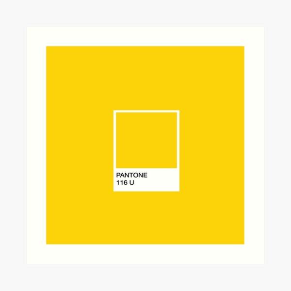 PANTONE Yellow Art Print