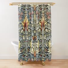 William Morris Snakeshead Floral Pattern Shower Curtain