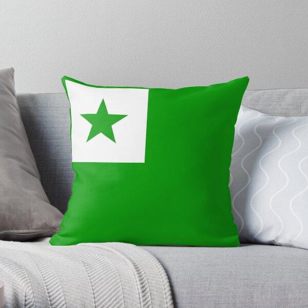 Esperanto Star Throw Pillow
