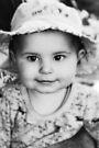 Baby-Girl in Black and White von Evita