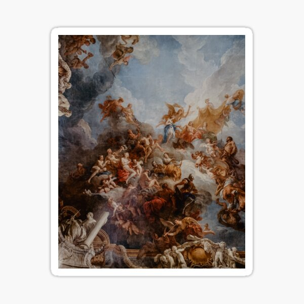 Renaissance paintings on ceiling Sticker
