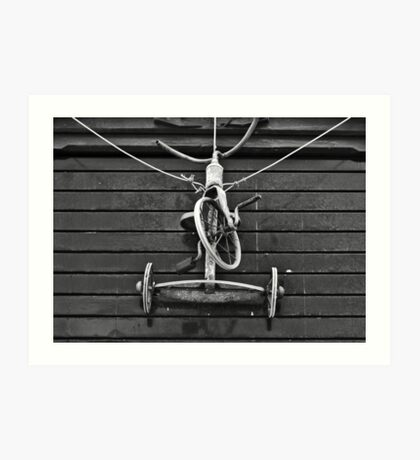 Bike on a Rope Art Print