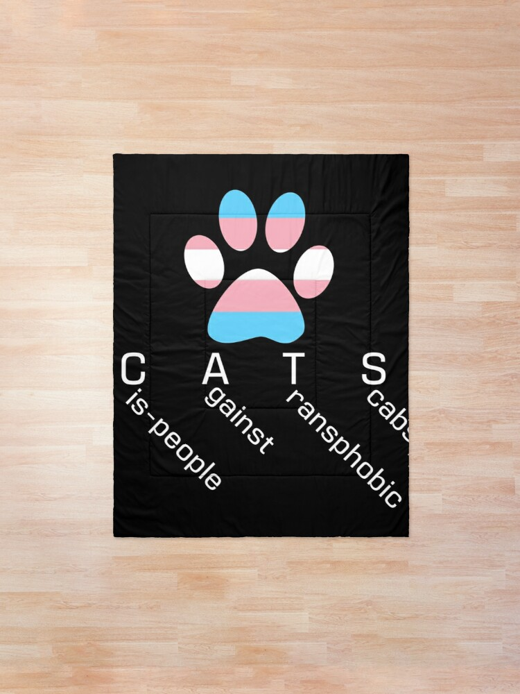Alternate view of CATS 2 - Cis-people against Transphobia Comforter