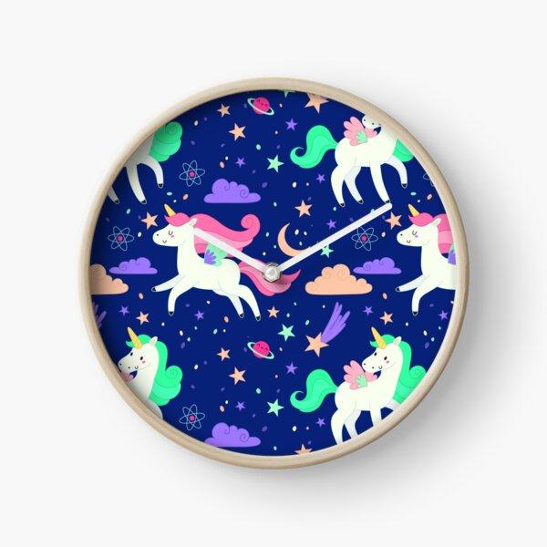Flying Unicorns Clock