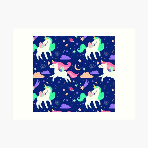 Flying Unicorns Art Print
